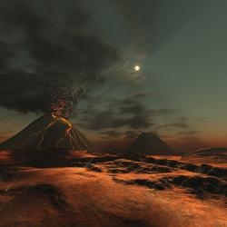 Пазл онлайн: Извержение вулкана