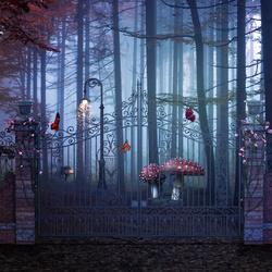 Пазл онлайн: Врата в заколдованный лес