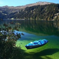 Пазл онлайн: Зеленое озеро