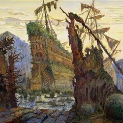Пазл онлайн: Старый корабль