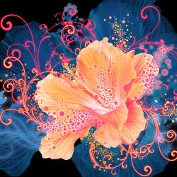 Пазл онлайн: Волшебный цветок