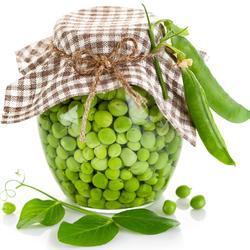 Пазл онлайн: Зеленый горошек