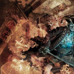 Пазл онлайн: Огненный рыцарь