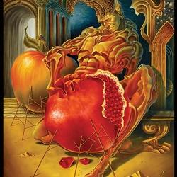 Пазл онлайн: Гранат и яблоко
