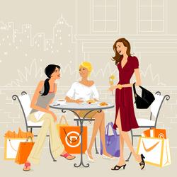 Пазл онлайн: После шоппинга