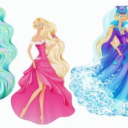Пазл онлайн: Принцессы