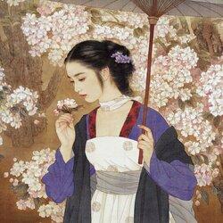 Пазл онлайн: Пора цветенья нежных слив