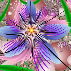Пазл онлайн: Яркий цветок