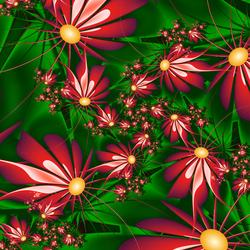 Пазл онлайн: Цветочный хоровод
