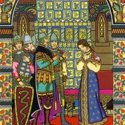 Пазл онлайн: Сказка о мёртвой царевне