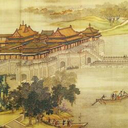 Пазл онлайн: Картина - свиток . «Праздник Цинмин на реке Бянъхэ » (8)