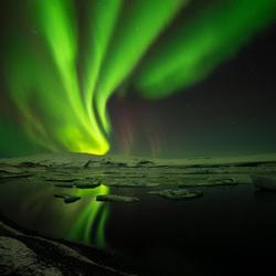 Пазл онлайн: Ночные переливы северного неба