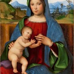 Пазл онлайн: Мадонна с младенцем ( Гэмбаро Мадонна)