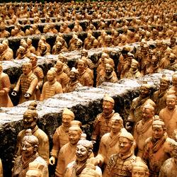 Пазл онлайн: Мавзолей Цинь Ши Хуан Ди и Терракотовая армия, Китай