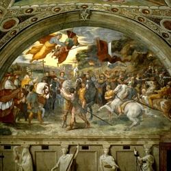 Пазл онлайн: Совещание Льва Великого и Аттилы