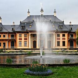 Пазл онлайн: Дворцово-парковый комплекс Пильниц