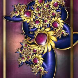 Пазл онлайн: Фиолетовый танец