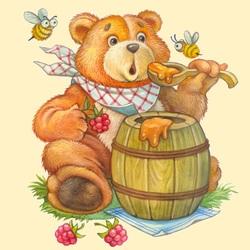 Пазл онлайн: Сладкий мед