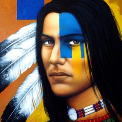 Пазл онлайн: Индеец племени инков
