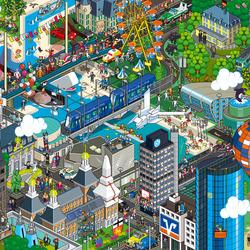 Пазл онлайн: Современный город