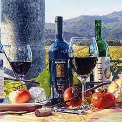 Пазл онлайн: Вино и виноградники