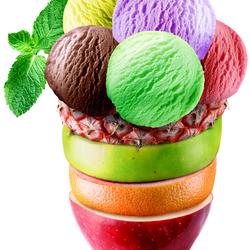 Пазл онлайн: Фруктовое мороженое