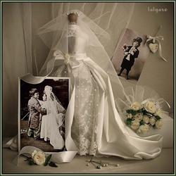 Пазл онлайн: Свадебный натюрморт