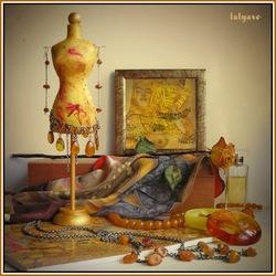 Пазл онлайн: Натюрморт с янтарем