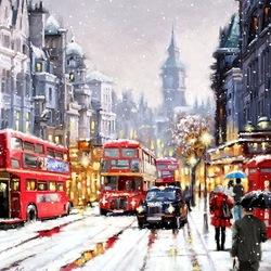 Пазл онлайн: Заснеженный город