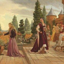 Пазл онлайн: Цветы для принцессы