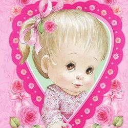Пазл онлайн: Розовое сердце