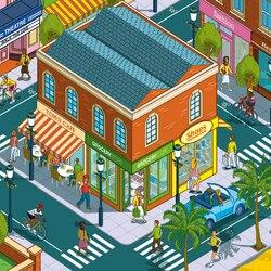 Пазл онлайн: Городские будни