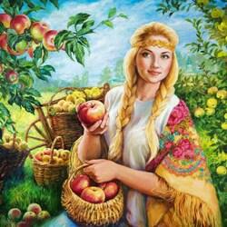 Пазл онлайн: Яблочный Спас