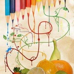 Пазл онлайн: Натюрморт с карандашами