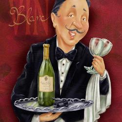 Пазл онлайн: Белое вино