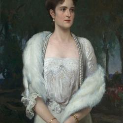 Пазл онлайн: Портрет императрицы Александры Федоровны, жены Николая II