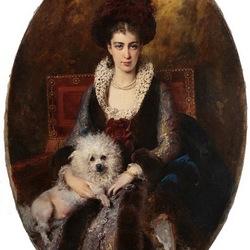 Пазл онлайн: Портрет жены художника