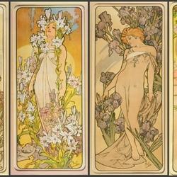 Пазл онлайн: Цветы (гвоздика, лилия, ирис, роза)