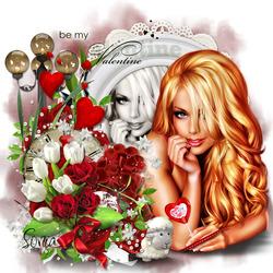Пазл онлайн: Моя валентинка