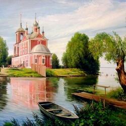 Пазл онлайн: Церковь Сорока мучеников. г.Переславль