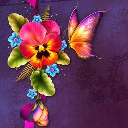Пазл онлайн: Любопытная бабочка