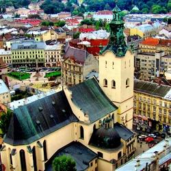 Пазл онлайн: Львов. Панорама