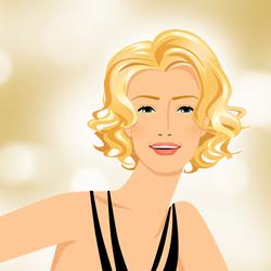 Пазл онлайн: Блондинка