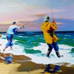 Пазл онлайн: Рыболовы