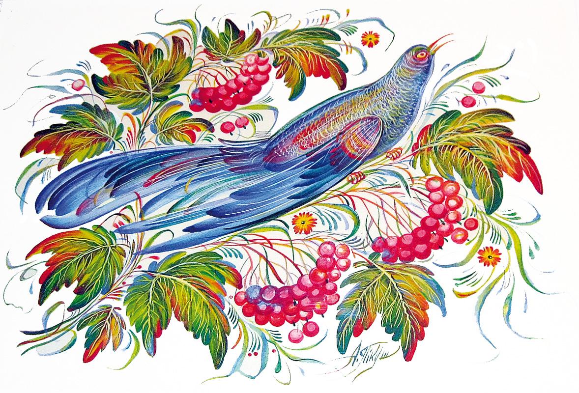петриковскую роспись открытки всегда был тесно