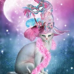 Пазл онлайн: Кошка-фея