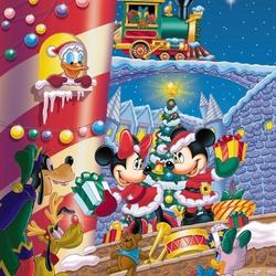 Пазл онлайн: Рождество Минни и Микки