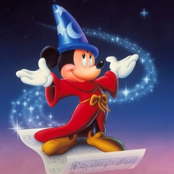 Пазл онлайн: Микки-волшебник