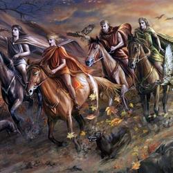 Пазл онлайн: Осенняя охота