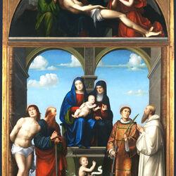 Пазл онлайн: Алтарь святой Анны из Сан Фредиано, Лукка